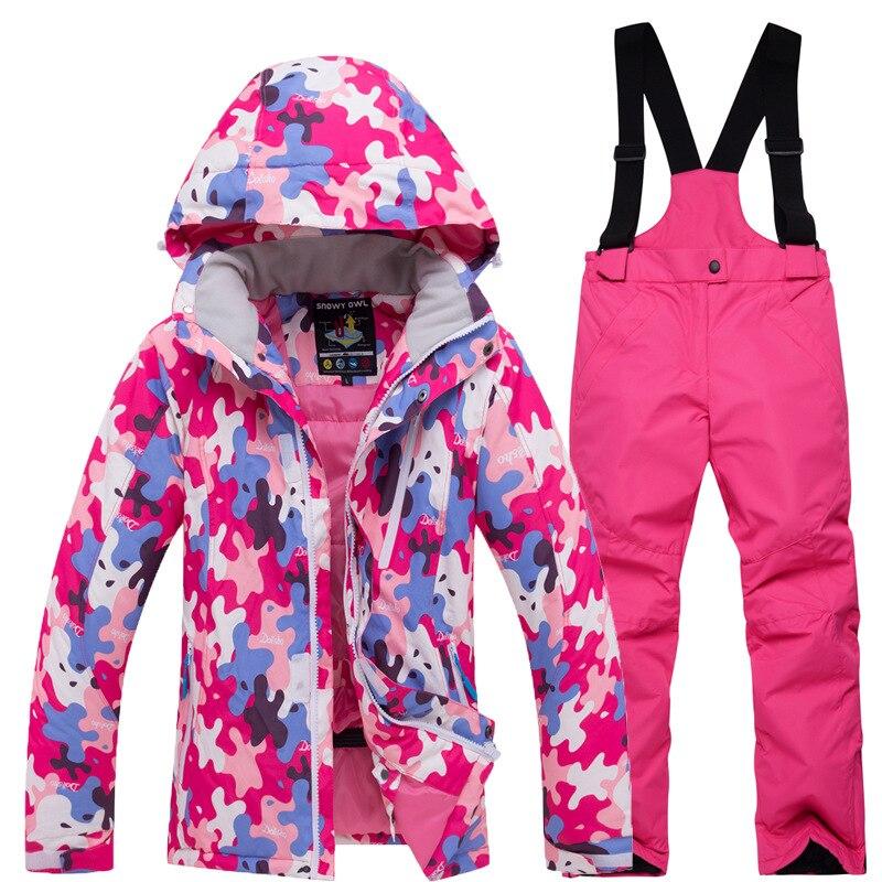 Crianças roupas de inverno crianças roupas de natal da menina da criança roupas de inverno meninas roupas de esqui desgaste dos esportes - 4