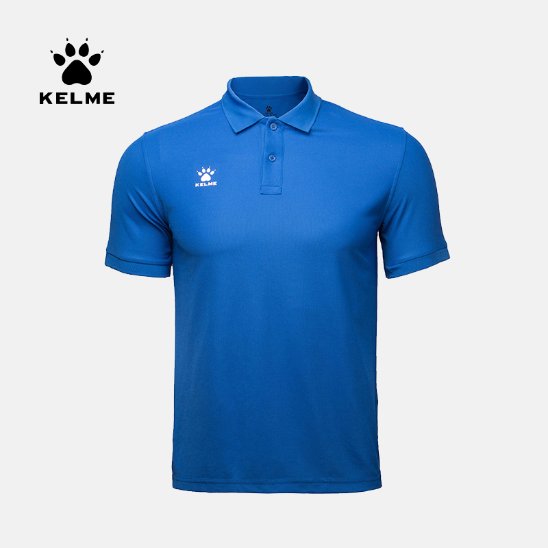 KELME Men's Training Polo T-Shirt  Summer Running Cotton Shirts Casual Short Sleeve Tops High Quantity Polo For Men 3891064