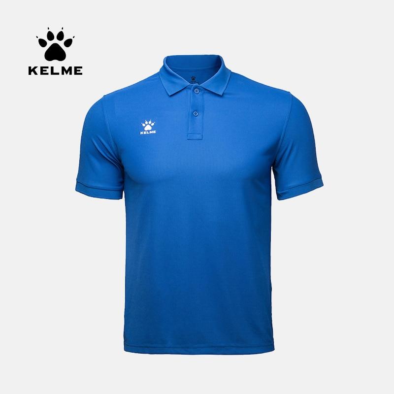 KELME Men's Training Polo T-Shirt  Summer Running Cotton Shirts Casual Short Sleeve Tops High Quantity Polo For Men 3891064