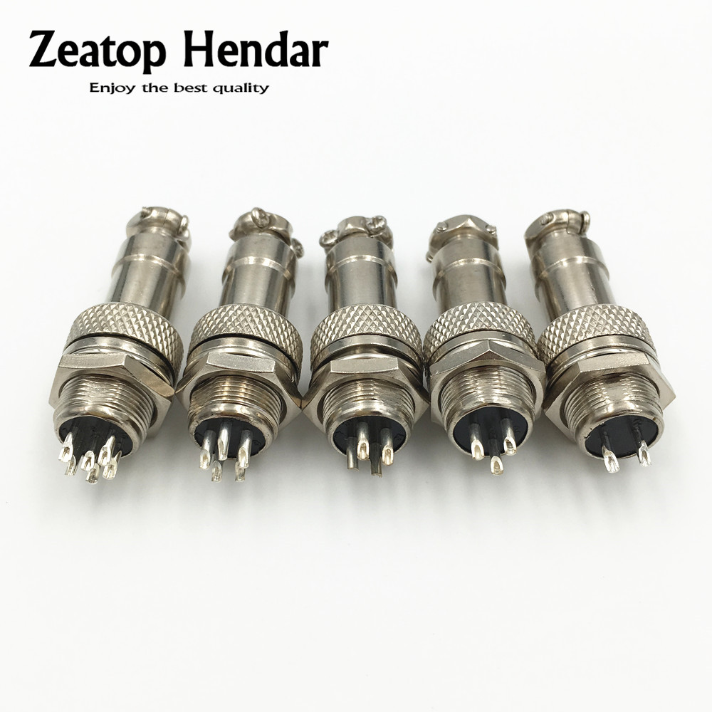 5pcs XLR 2 Pins 12mm Audio Cable Connector Chassis Mount 2 Pin Plug Adapter