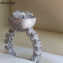 Choucong หรูหราแหวน 925 เงินสเตอร์ลิง Micro Pave AAAAA CZ งานแต่งงานแหวนสำหรับเจ้าสาวของขวัญเครื่องประดับ