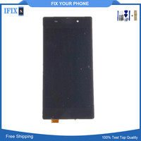 Pour Sony Z2 L50W D6502 D6503 Tactile Lcd Écran Mobile Téléphone Affichage Assemblée Complet avec Adhésif Autocollants