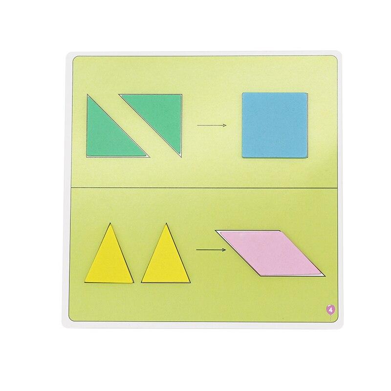 Jouets en bois Puzzle éducation précoce Puzzle bébé enfants Cognition puzzle jouets Tangram puzzle Puzzle créatif - 4