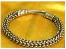 Азиатский Китай Superb Ювелирных тибетский мяо серебряный браслет Браслет доставка бесплатная