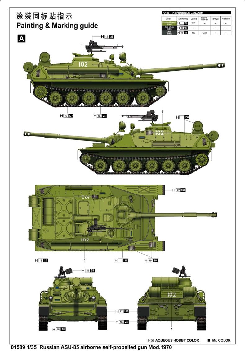 Trompete manual 1:35 soviética, modelo de montagem