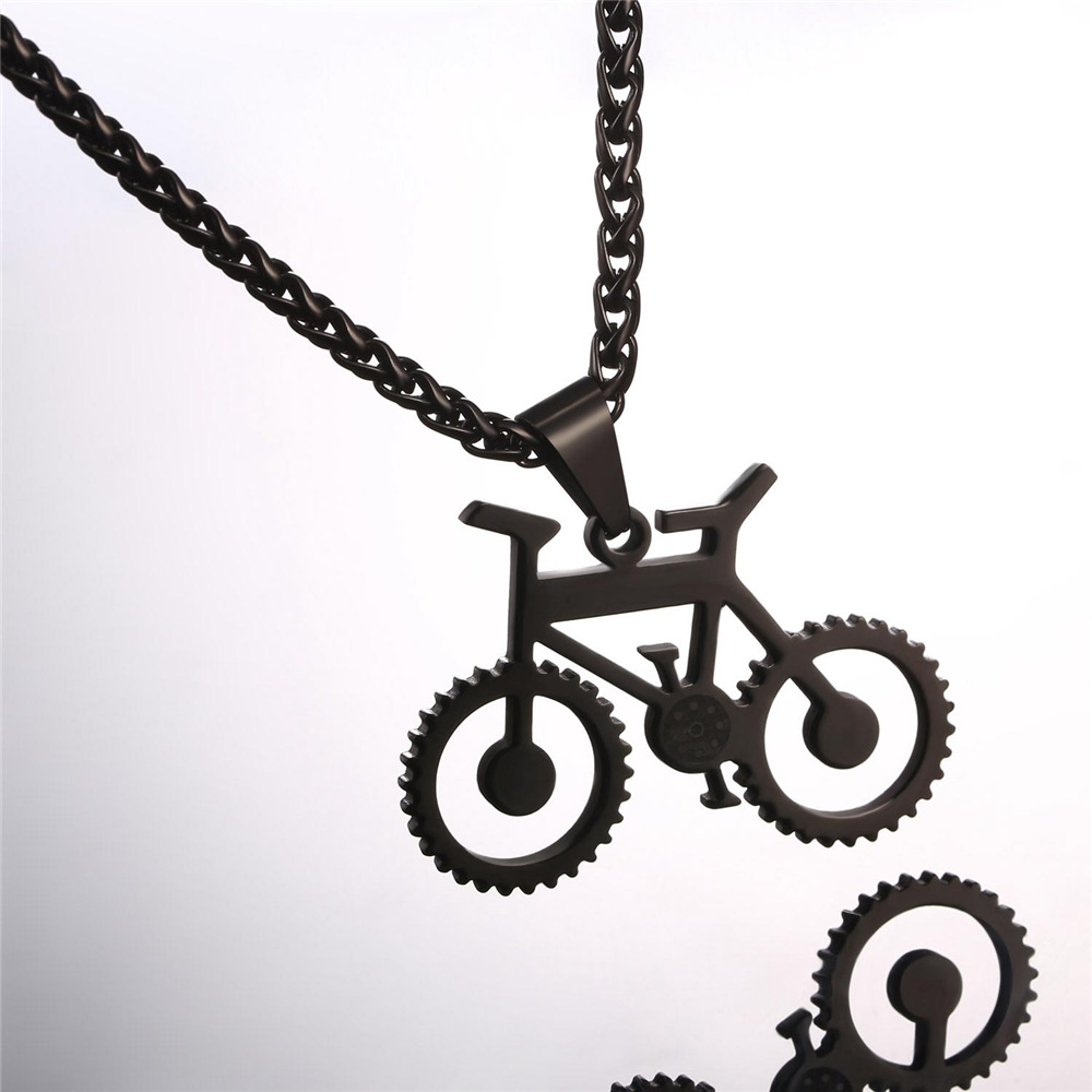 Kpop bicycle pendant necklace for menwomen gold color stainless kpop bicycle pendant necklace for menwomen gold color stainless steel bike charm necklace rock sport jewelry gp993 in pendant necklaces from jewelry aloadofball Image collections