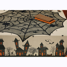 Halloween Decor  Tablecloth Creative Spider  Web Topper Covers Fireplace Party Picnic Table Party Decor Home Textile F925