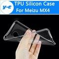 Para meizu mx4 caso de la cubierta tpu de silicona 100% nueva clear shell protector suave de la contraportada para meizu mx 4 teléfono inteligente libre gratis