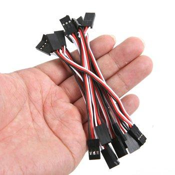 10 Uds. 10cm Servo extensión Cable de plomo macho a macho