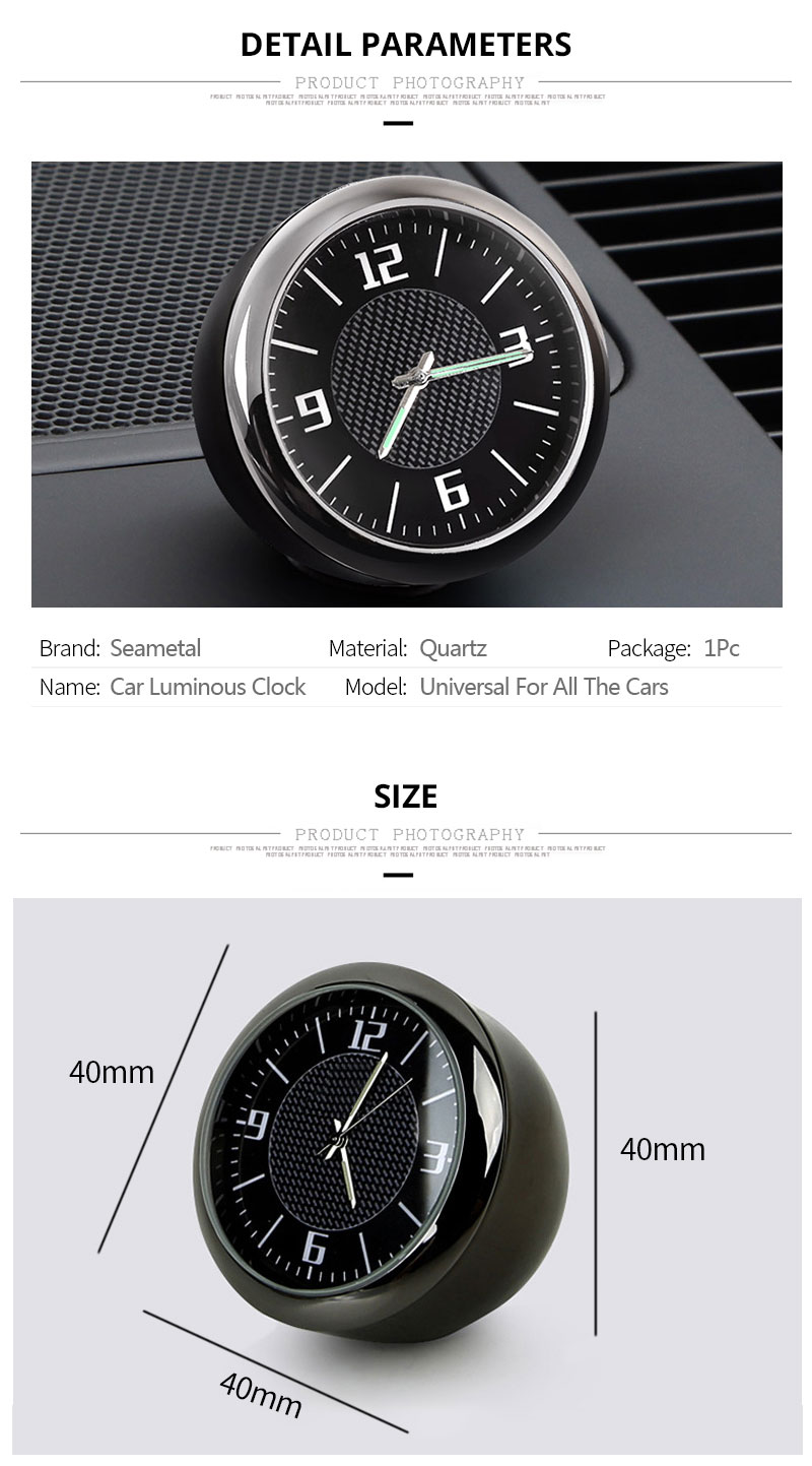 Back To Search Resultshome Special Section Auto Quartz Watch Automobiles Interior Stick-on Clock High Grade Auto Vehicle Dashboard Time Display Clock In Car Accessories