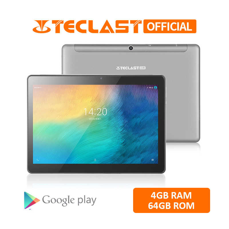 Teclast M20 Dual 4G LTE Tablet PC 10.1 inch 2560 x 1600 Android 8.0 MT6797 X23 Deca Core 4GB RAM 64GB ROM Phone Tablets GPS