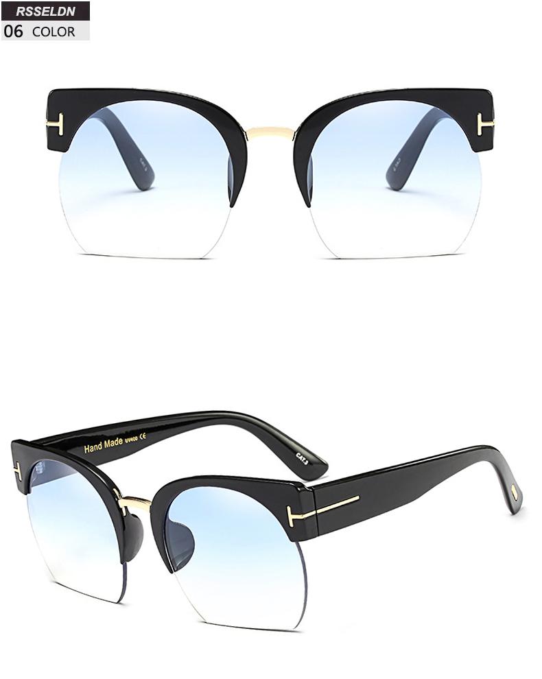 HTB1ilpWSpXXXXa9XVXXq6xXFXXXI - RSSELDN Newest Semi-Rimless Sunglasses Women Brand Designer Clear Lens Sun Glasses For Women Fashion Sunglass Vintage oculos