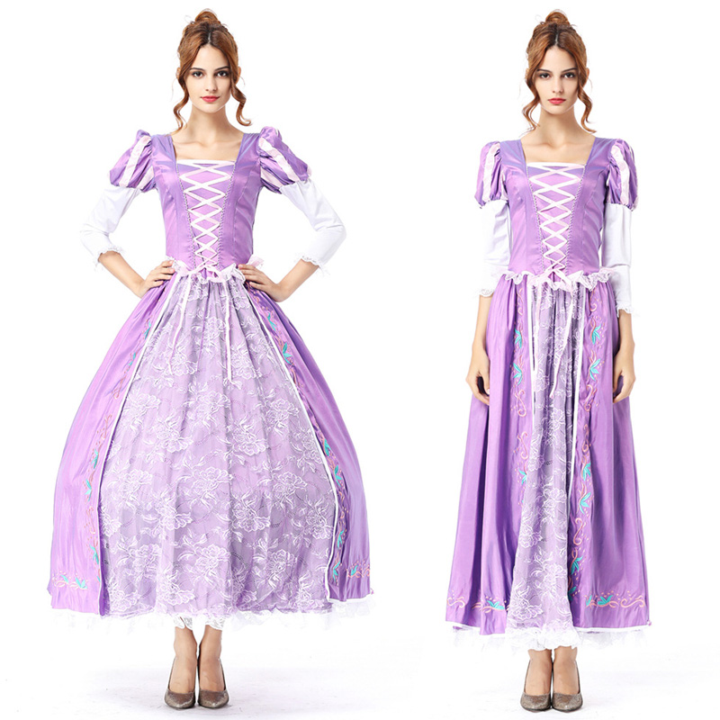 Adult Ladies Purple Tangled Rapunzel Fancy Dress