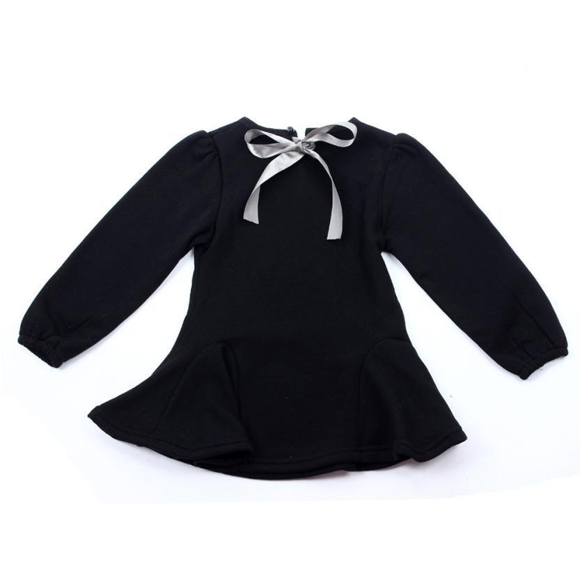 6e011c0a239ac 2015 Mode filles blouse ruches printemps automne enfants filles coton  enfants À Manches Longues Arc Tops Slim Robe