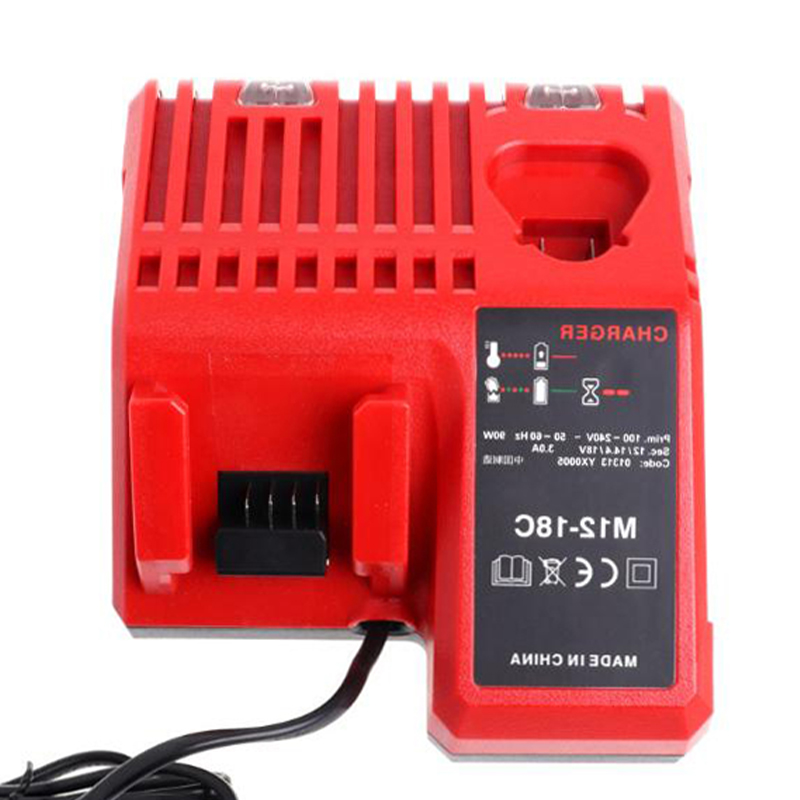 Hot Charger For Milwaukee 10.8V 12V 18V M12 M18 48 - 11 - 24xx Series Lithium-ion Battery N12 M12-18C Li-ion Battery Charger RedHot Charger For Milwaukee 10.8V 12V 18V M12 M18 48 - 11 - 24xx Series Lithium-ion Battery N12 M12-18C Li-ion Battery Charger Red