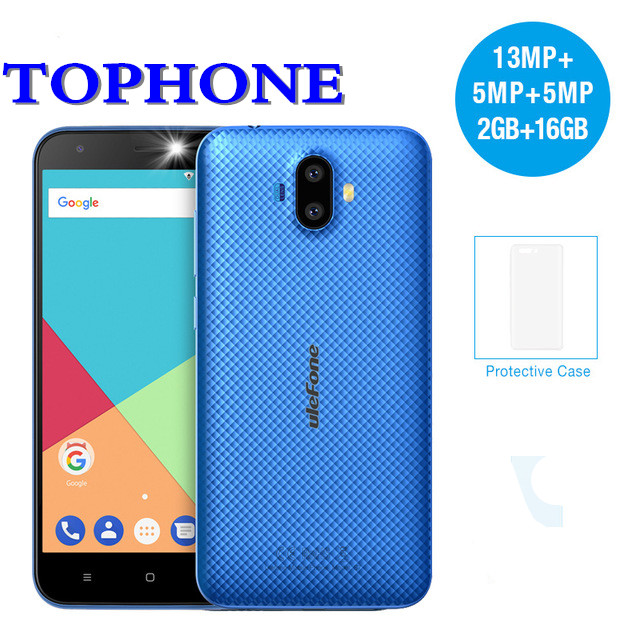 2018 Ulefone S7 PRO Оперативная память 2 ГБ Встроенная память 16 ГБ смартфон 3g WCDMA MTK6580 4 ядра 5,0 HD 13MP двойной сзади Cam Android 7,0 мобильный телефон
