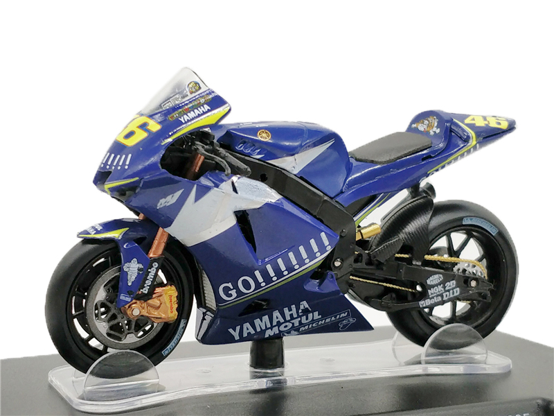 1:18 Leo #46 Rossi Yamaha YZR M1 WC 2005 MotoGP Diecast Racing Motorrad