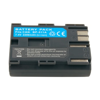 נטענת BP511A סוללה 7.4V 2200mAH ליתיום נטען מצלמה BP-511A BP-511 BP511 עבור Canon EOS 300D 20D 30D 50D 40D 10D 5D