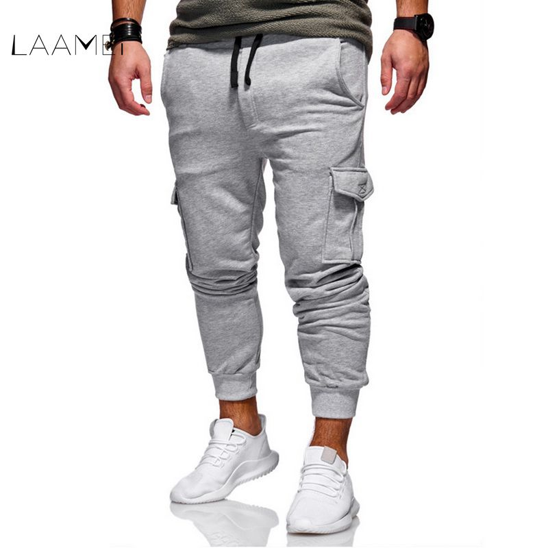 Laamei Men Pants 2018 New Fashion Men Jogger Pants Men Fitness Bodybuilding Gyms Pants M ...