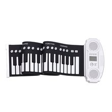 Portable 61 Keys Silicone Flexible Roll Up Piano Foldable Keyboard Hand-rolling Piano