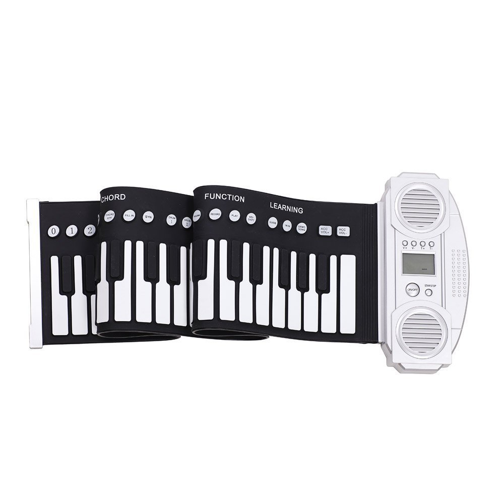 Portable 61 touches Silicone Flexible retrousser Piano pliable clavier main-roulant Piano