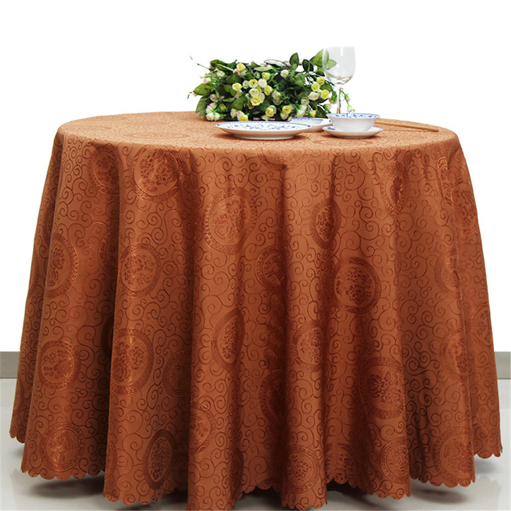 Nappe De Table Ronde 14 02 35 De Réduction Nappe De Mode Jacquard Damassé Couverture De Table Ronde Superposition Nappe Antitache Nappes Pour Les Mariages