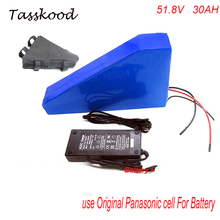 Best quality 52V 1000w triangle electric bike battery 51.8v 30ah lithium battery pack For Panasonic cell