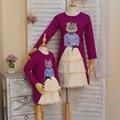 Children clothing Мать и Дочь Платье кошка королева и принцесса, 2-10 лет Ребенок Девушка Одежда, женщины плюс Большой размер 4XL