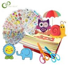 96 шт./48 шт. Детские Мультяшные цветные бумажные складные и режущие игрушки для детей Kingergarden Art Craft DIY Развивающие игрушки GYH