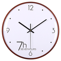 Homingdeco 12 Inches Simple Creative Nordic Simple Mute Quarz Wall Clock Curved Wood Frame Clock Wall Decoration Large 7 Type