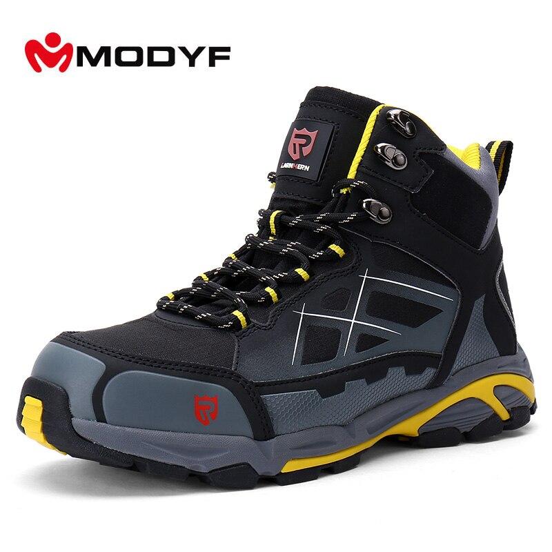 Modyf Men Non-slip Winter Boots Steel Toe Work Safety Shoes KEVLAR Midsole Outdoor Fashion Warm Ankle Protective Footwear цены онлайн