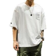 Men cotton t shirts 2019 Men Summer streetwear white T-shirt mens fashion brand clothing man oversize tshirt Male Tops & Tee 3XL