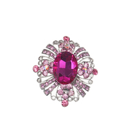 10pcs/lot new style Women's pink Crystal Brooch for gift wedding