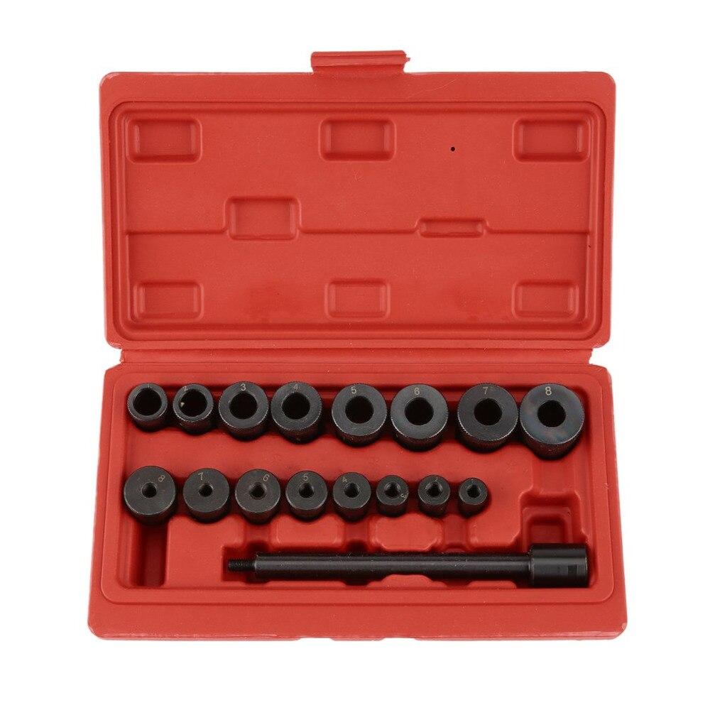 17 Pcs Universale Frizione Allineamento Tool Kit Cuscinetto Pilota Set Strumento Di Impostazione Per Auto Auto E Furgoni Garage Strumento Di Allineamento Set Squisita (In) Esecuzione