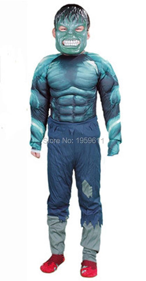 1 X Hulk Avengers Classic Muscle Child Costume Superhero dress up  Kids carnival fancy party dress