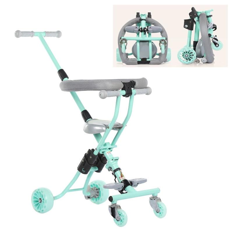 親のハンドルを持つ子供のための超折り幼児三輪車