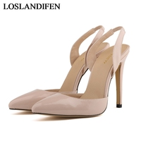 New Arrival Summer Ladies Sweet Pink Sandals Pointed Toe Women High Heels Shoes Ankle Strap Bridal Pumps Shoes NLK A0128