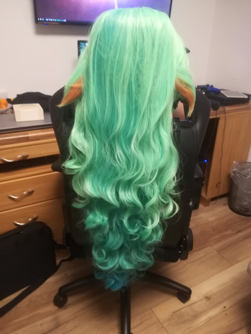 Home New Wig 100cm Lol Cosplay Soraka Wig Star Guardian Cosplay Props Long Hair Wig For Adult Women Men Masquerade Party