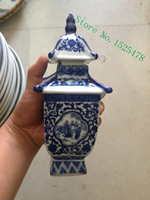 Ancient Chinese blue and white porcelain temperature wine pot