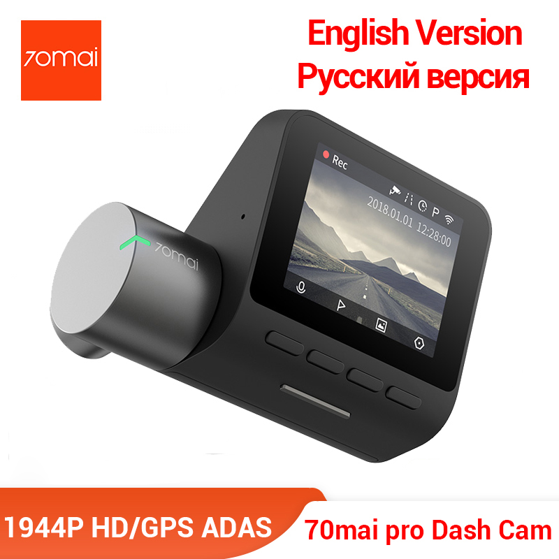 70mai Pro Dash Cam English Voice Control Smart Car DVR 1944PHD Camera Parking Monitor