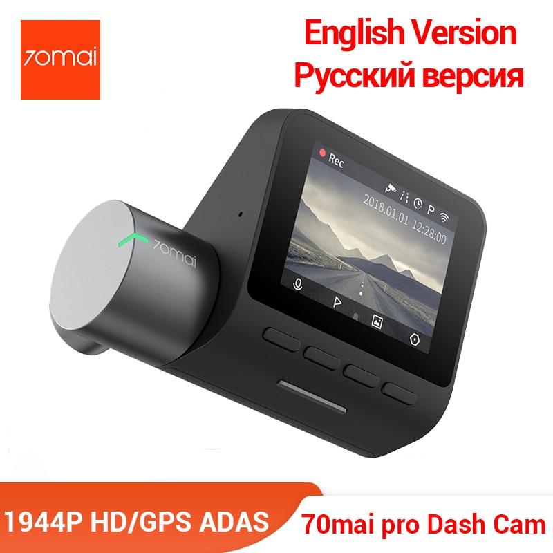 70mai Pro Dash Cam English Voice Control Smart Car DVR 1944PHD Dash Car Camera Parking Monitor 140 FOV Night Version nokia 8 new 2018