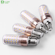 E27 E14 LED Lamp light SMD 2835 12W 16W 60 LEDS lamps lights 110V 220V Bulbs dimmable corn Candle bulb 3 Color Temperatures(China)