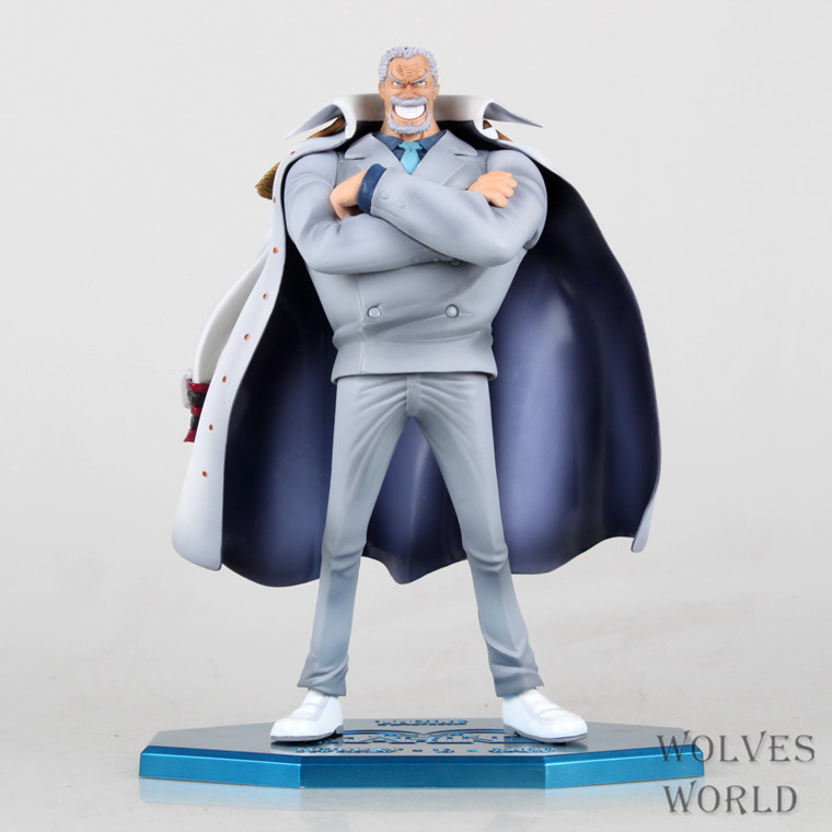 1 Pcs Anime One Piece Marine Vice Admiral Monkey D Garp POP Collectible Action Figures PVC Model Toys For Christmas Gifts 23 CM