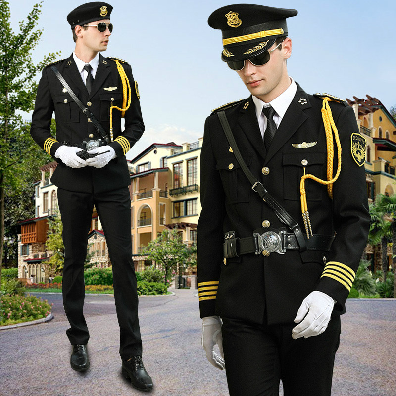 Men Black Army Tactical Military Security Uniform Captain Combat Clothes Business Suit Jacket + Pants + 10Gifts Outdoor