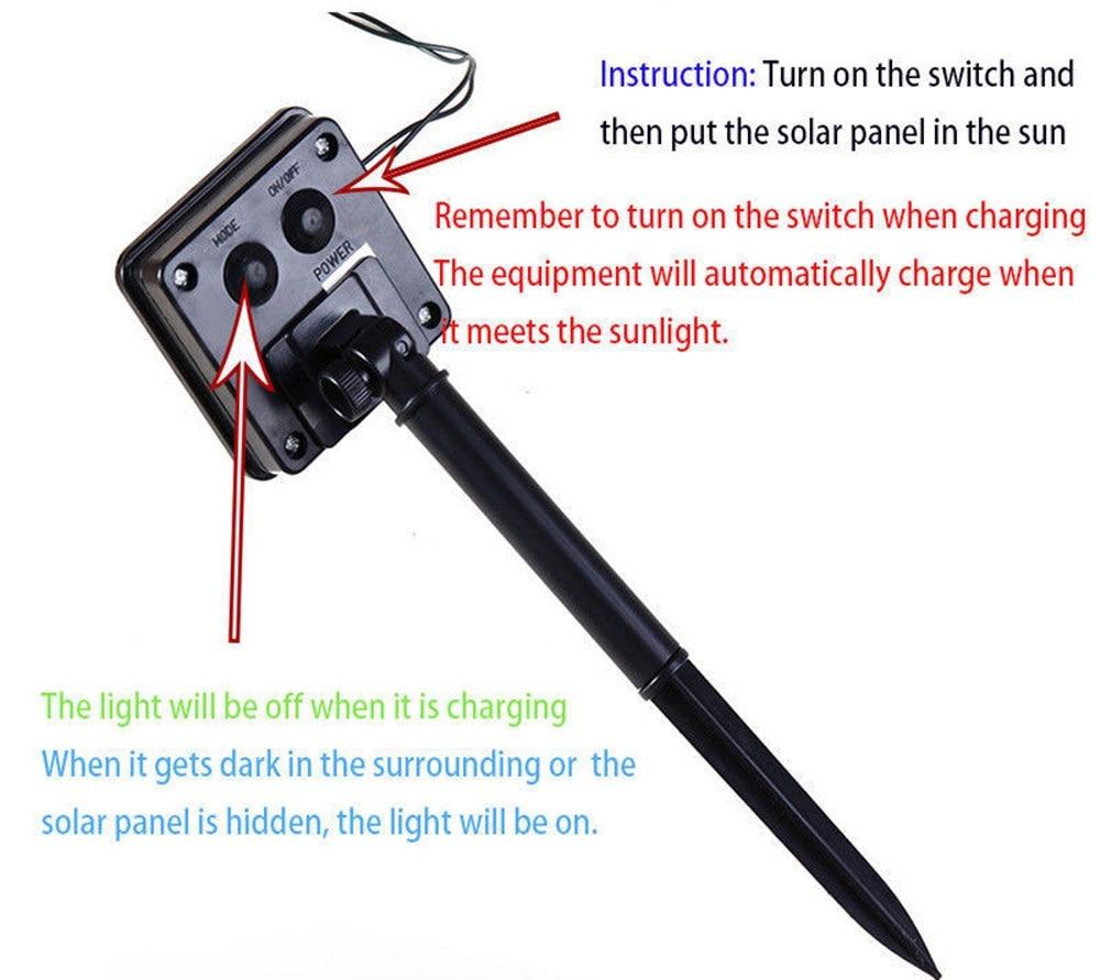 Luces solares de cadena LED Al aire libre, a prueba de agua de hadas, - Iluminación exterior - foto 6