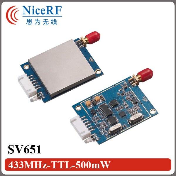 SV651 TTL Интерфейс 470 МГц Беспроводной Передачи Данных Передатчик И Приемник Rf-модуль