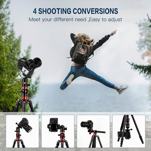 Image 5 - Cadiso M8 Professional Portable Video Horizontal Tripod Monopod with Quick Release Plate 360 Degree Ball Head for DSLR Camera