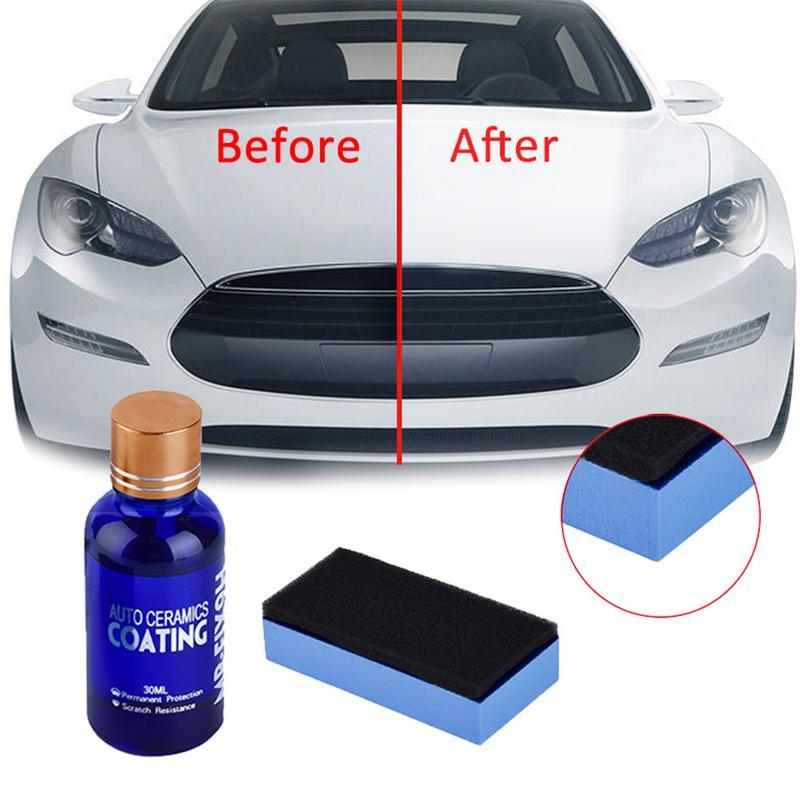 2pcs 9h Car Oxidation Liquid Ceramic Coat Super Hydrophobic Glass Coating Set Polysiloxane And Nano Materials Care Multicolor H9
