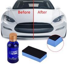 9H araba sıvı seramik kaplama süper hidrofobik cam CoatSet polisiloksan ve Nano malzemeler bakımı renkli