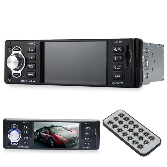 Hot sale! Hot sale New 4016C 4.1 Inch Embedded Car MP4 Player with USB SD AUX Ports LCD Display FM